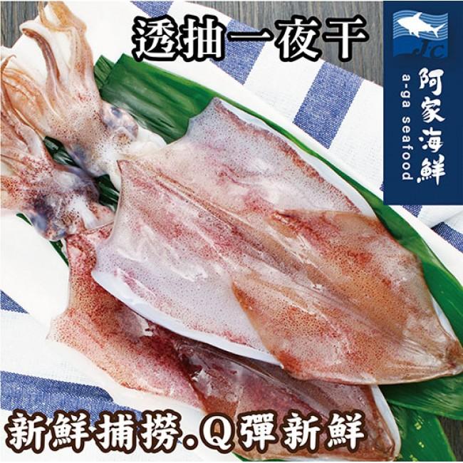 生凍透抽一夜干 2尾/包(210g±10%) 薄鹽 新鮮 Q彈 透抽 一夜干 批發零售 快速出貨